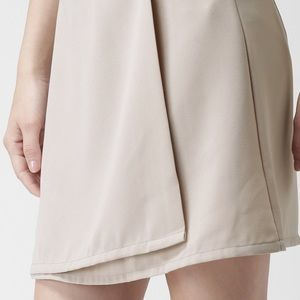 FOREVER 21 Front Wrap Skirt Taupe